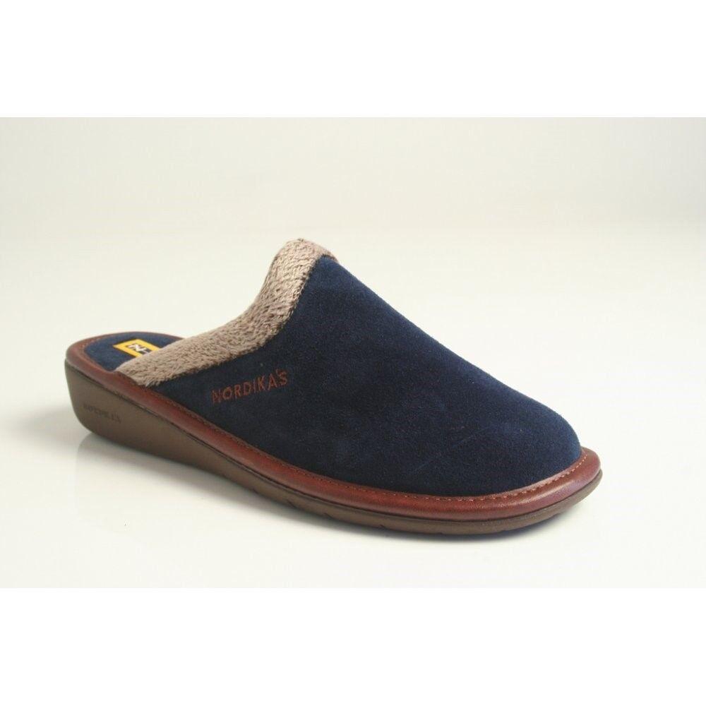 Womens Nordikas 234 Natala mule slippers bluee Marino size 37
