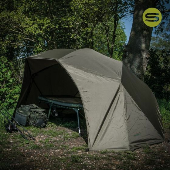 Saber Supra Lite Brolly   60  Carp Fishing Shelter Bivvy System With Storm Poles