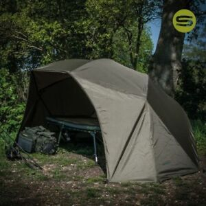 Shelter From Storm With Devices >> Saber Supra Lite Brolly 60 Carp Fishing Shelter Bivvy System With