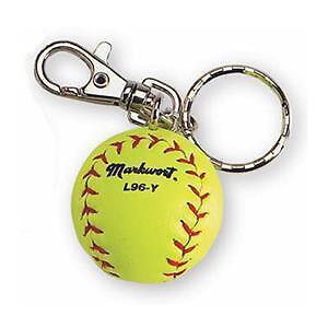 NEW Markwort Miniature Yellow Softball Key Chain