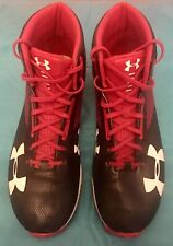 Under Armour Mens Hammer Hight Top Lace Up Baseball Shoes