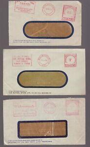 Australia-Victoria-3-x-postage-paid-circa-1950-039-s-advertising-covers