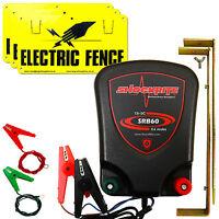 Electric Fence Energiser Shockrite 12v Srb60 0.6 Joule + 3 X Warning Signs