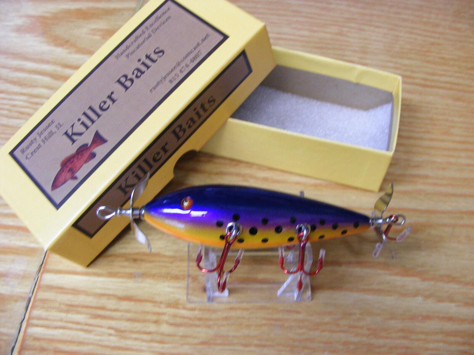 Killer Baits Rusty Jessee Heddon 300 Style Glasseye  5 Hooker in Tropical Berry  floor price