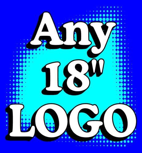 "2 ANY LOGO customizable CORNHOLE /""Baggo/"" 18/"" Decals"