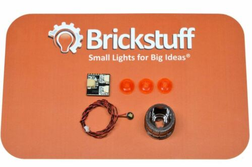 BRICKSTUFF LEGO BURN BARREL LED LIGHT KIT WITH FLICKERING FIRE EFFECT