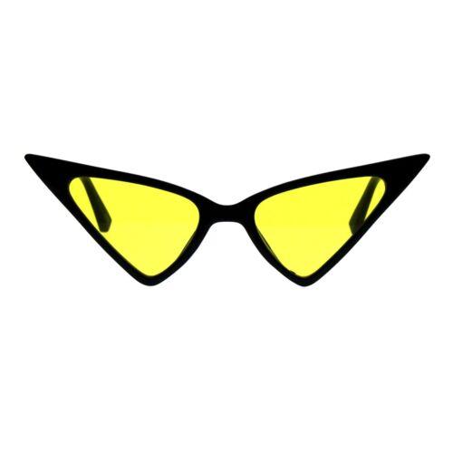 Pointy Triangle Cateye Sunglasses Womens High Fashion Color Lens UV 400