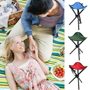 Camping-Stool-Outdoor-Folding-Seat-Hiking-Fishing-Festival-BBQ-Picnic-Chair-Red