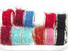 12 S Spolette di Luccicante lana,Vario colore Materiali per mosche da pesca,Filo