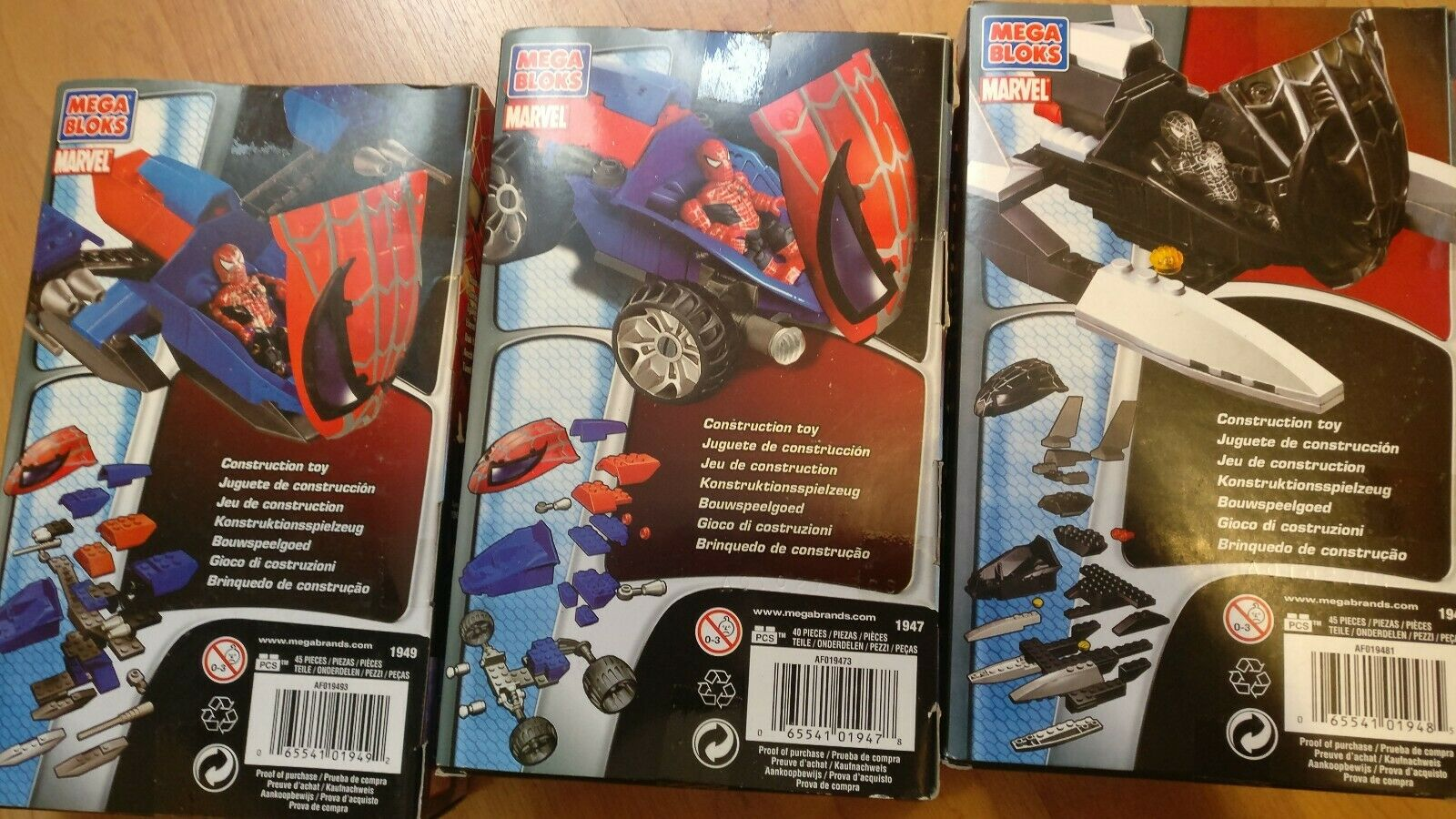 Spider-Man Spider-Man Spider-Man Mega blocks 3 pack 2007 New 8bcc44