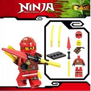 Ninjago-rot-Kai-Jay-Master-of-Spinjitzu-Custom-Lego-Mini-Figur-Lloyd-Ninja-Spielzeug