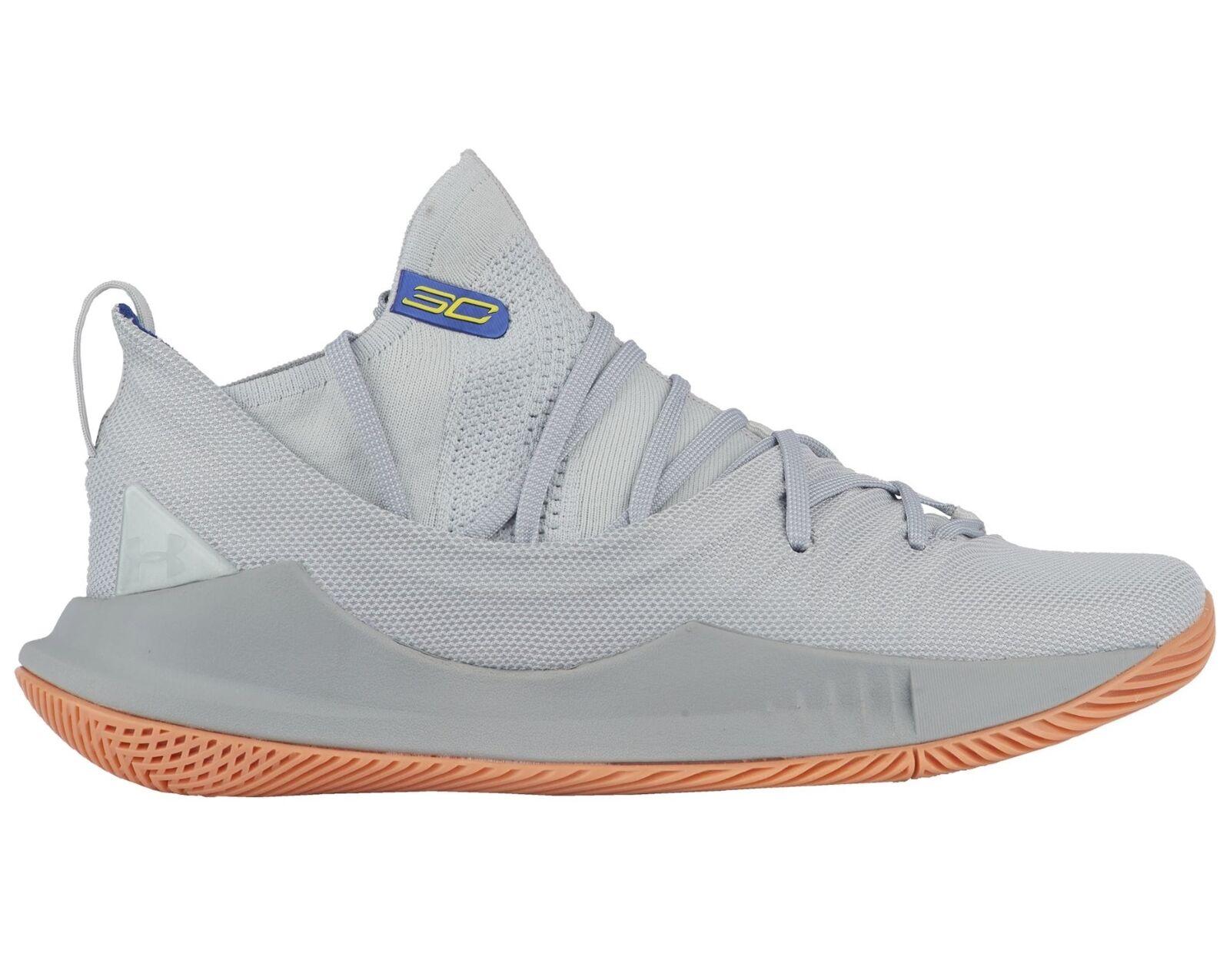 Under Gum Armour Curry 5 Uomo 3020657-105 Tokyo Grey Gum Under Basketball Shoes Size 10.5