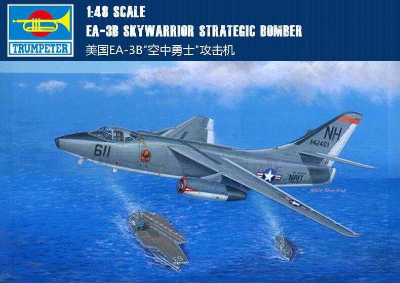 USA EA-3B cieloWARRIOR STRATEGIC  BOMBER 1 48 AEREI TRUMPETER modellololo KIT AEREO  prezzi bassi