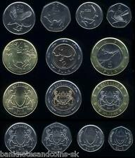 BOTSWANA COMPLETE COIN SET 5+10+25+50+1+2+5 Pula 2013 UNC UNCIRCULATED LOT of 7