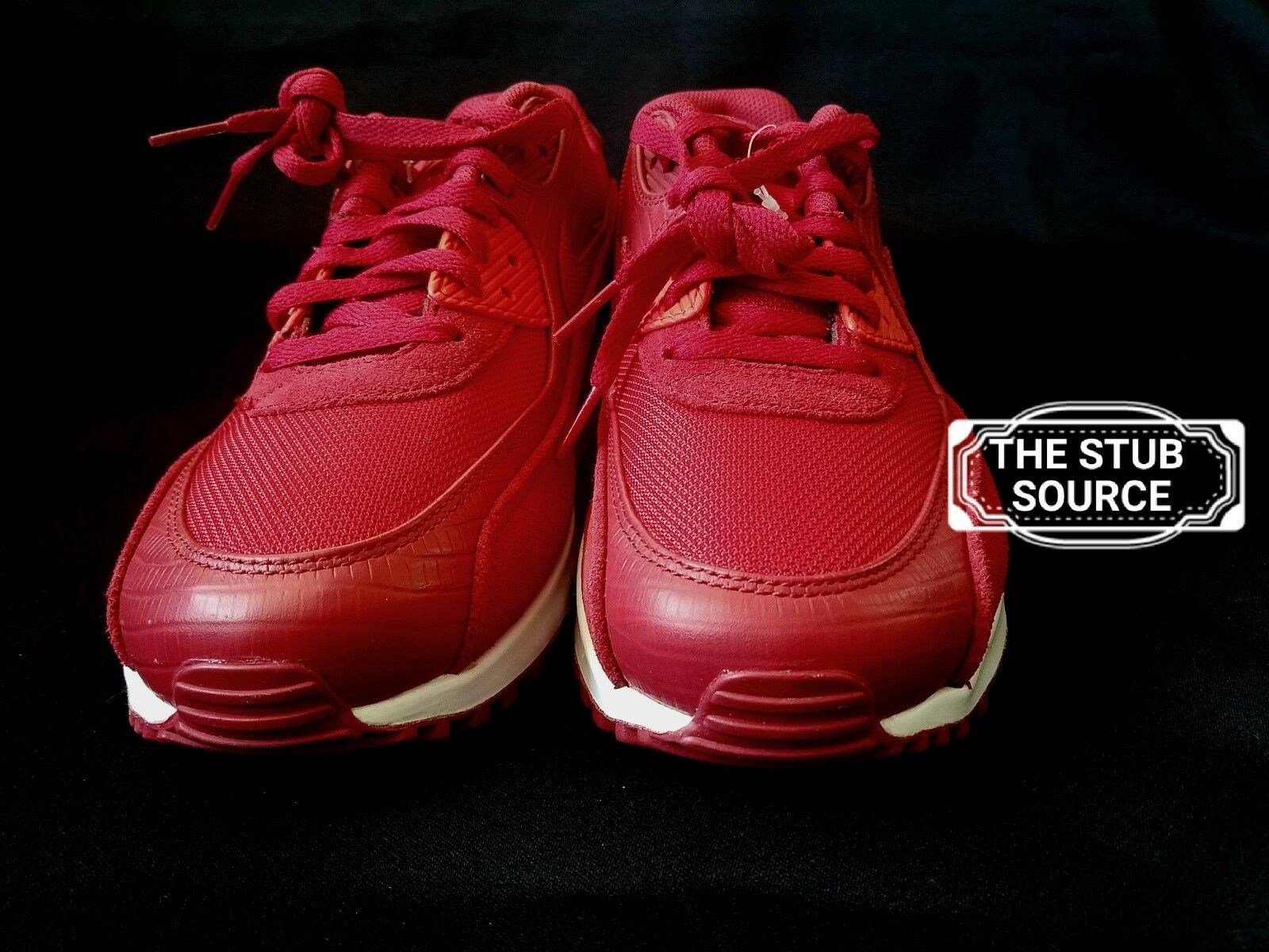Nike Air Max 90 Premium Red Running Sample Shoes Sneakers Sz 9 700155-602 NWOB Wild casual shoes