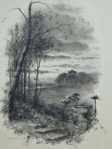 Fred Hines Gravur Landschaft