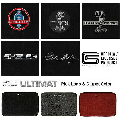 GT-350 Snake Emblems 2015-2019 Shelby Mustang Black Ultimat 4pc Floor Mats