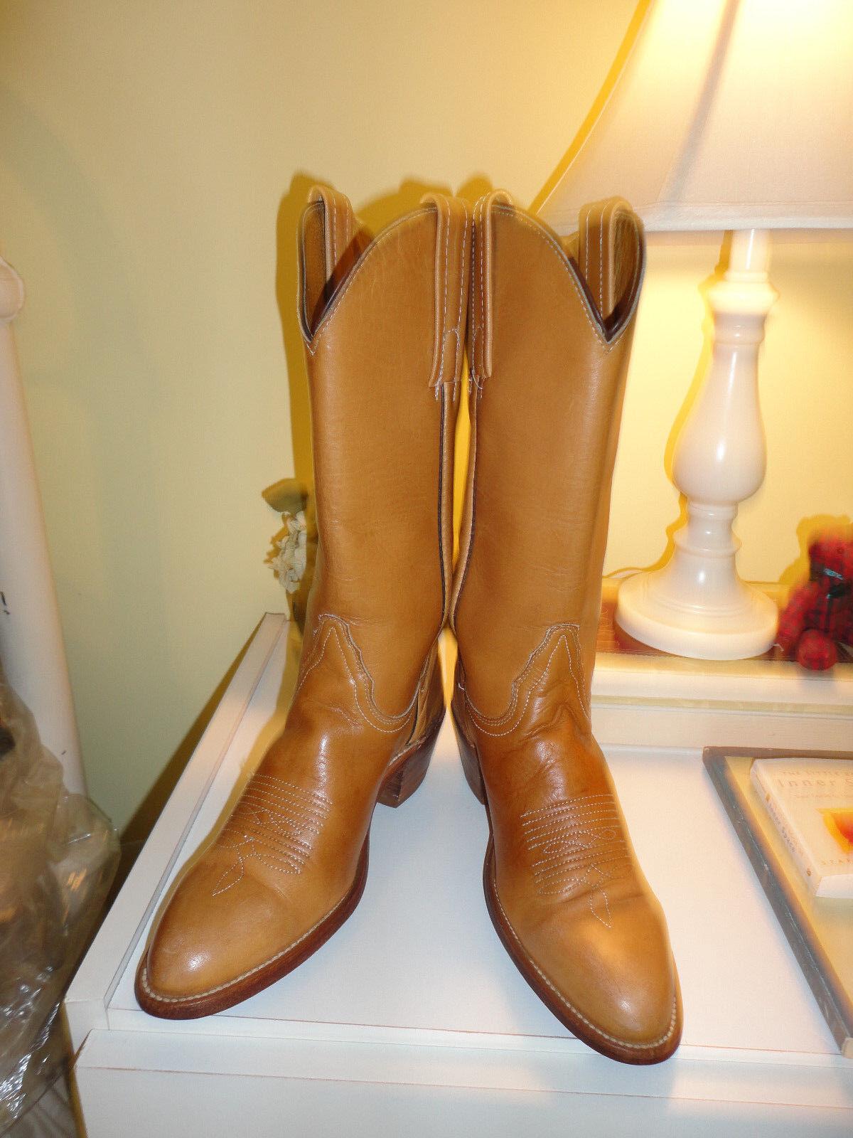 Frye British Tan Lady's Leder Cowboy Stiefel 5 1/2 B