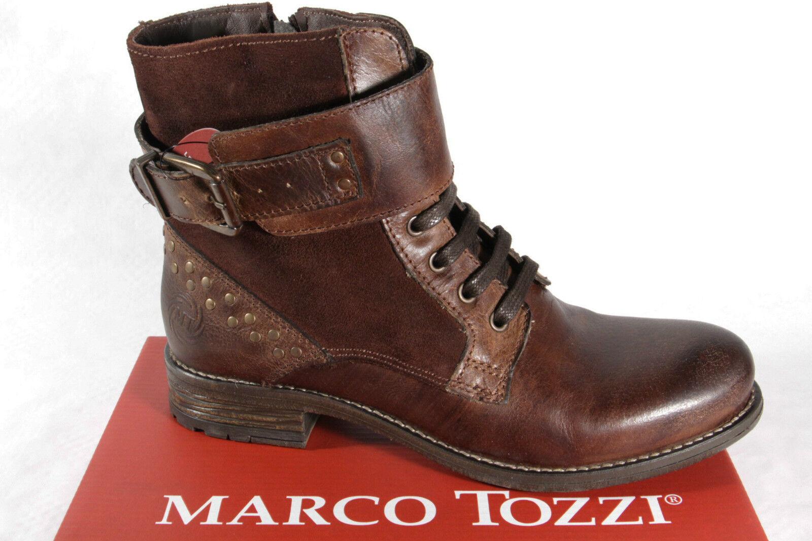 Marco Tozzi señora botas botines ata, Boots, RV, marrón! nuevo!