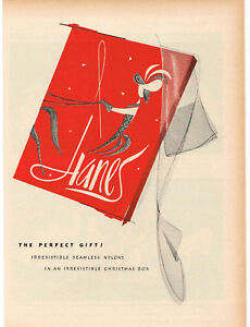1960-HANES-Seamless-Nylons-Stockings-art-VTG-Print-Ad