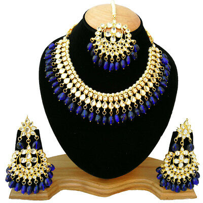 Designer Meena Kundan Gold Plated Bridal Meenakari Necklace Collections Jewelry Strengthening Waist And Sinews Fashion Jewelry