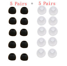 10 Pairs Medium Size Clear Silicone Replacement Ear Buds Tips For Sony Phillips