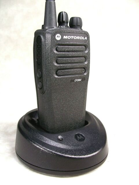MINT Motorola CP200d VHF 16ch Analog Radio w/Accessories
