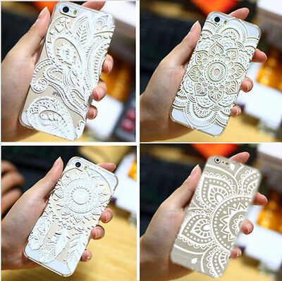 NEW Henna Floral Mandala Hard Case Cover for iPhone5 5S 6 6 Plus Paisley Designs