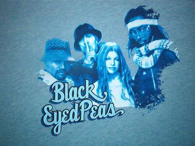 Diplomatisch Schwarz Eyed Peas Konzert Hemd Fergie Retro Ringer 2006 Tour Städte Termine Groß