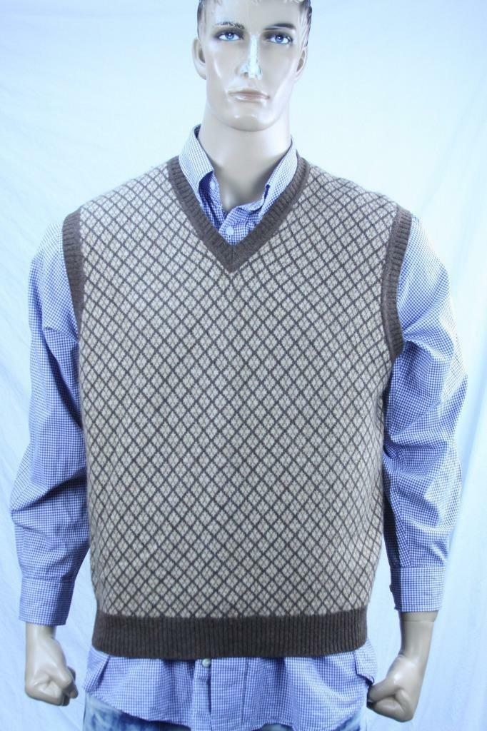 Authentic Brtooks Bredhers bluee label  Men's 100%  camel hair sweater vest  US L