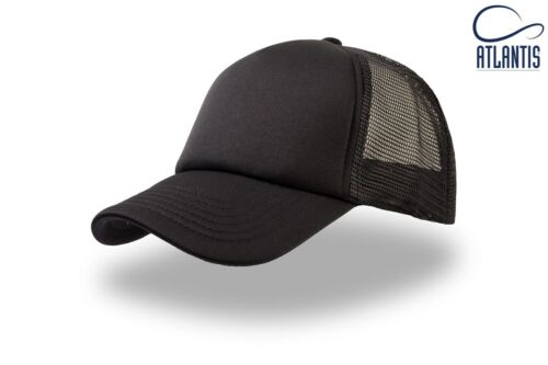 NERO CAPPELLINO RETE TRUCKER RAPPER CAP MESH BLACK TOTALBLACK