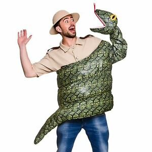 Les Adultes Serpent Fancy Dress Costume Anaconda Boa Constrictor Animal Reptile Neuf-afficher Le Titre D'origine
