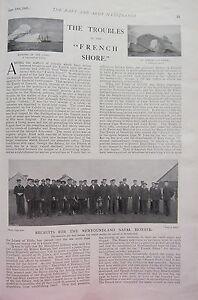 1902 Imprimé ~ - Recruits pour Terre Neuve Naval Réserve Quiddy Vidi Pêche Port smkycJcT-08030016-290182934