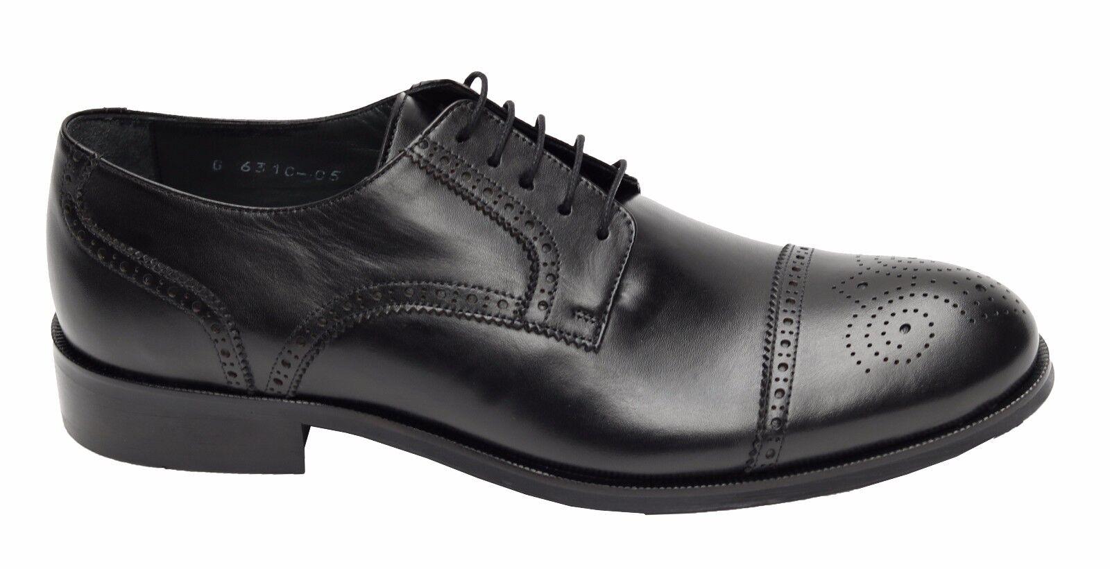 Billig gute Qualität Echtleder Herren Schuhe Gr.44 Schwarz