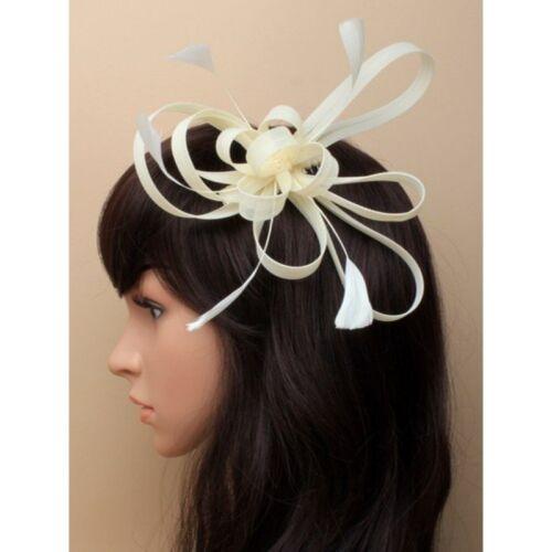 Kamm Hochzeit Weiß//Creme //Elfenbein Blume// Hut Haar Blumen Kopfschmuck Klemme