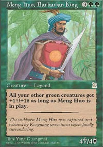 Meng Huo, Barbarian Barbarian Barbarian King Anglais VO English - Portal Three Kingdoms - Magic Mtg 15b942