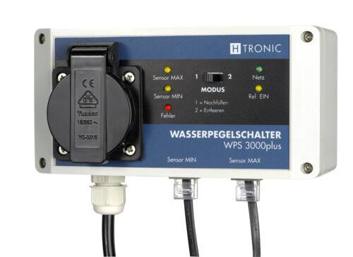 H-Tronic WPS3000Plus Wasserpegelschalter mit 2 Sensoren mit 10 m Kabellänge!