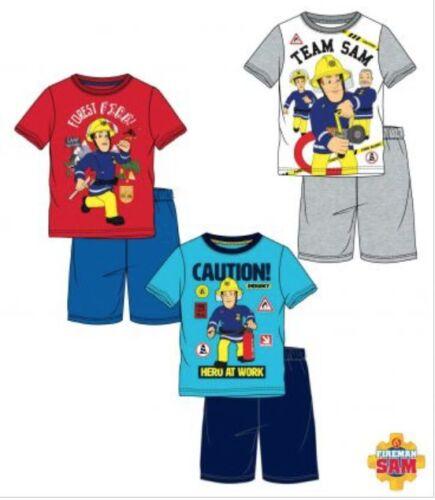 Feuerwehrmann Sam Schlafanzug Pyjama kurz