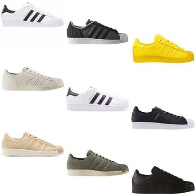 adidas Superstar Unisex Erwachsene Low Top Sneakers WeißSchwarzGold, EU 42