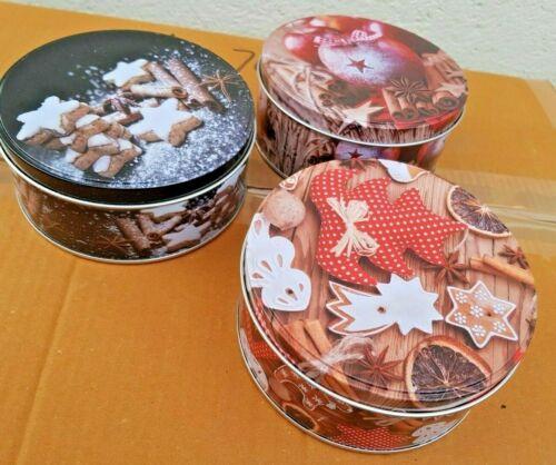3 Stück   13,5 x 6,0 cm Keksdose Plätzchendose
