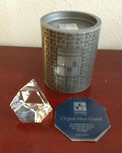 SWAROVSKI-SILVER-CRYSTAL-OCTRON-PAPERWEIGHT-7456NR041000-AUSTRIA-NEW-OLD-STOCK
