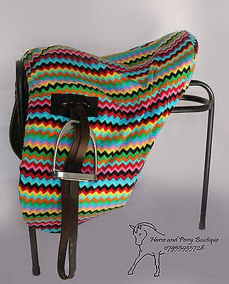 dressage saddle cover SADDLE COVER Ride on zig zag polar fleece ALL SIZES