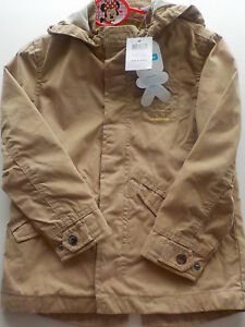 Manteau-garcon-Okaidi-marron-4-ans-104-cm-neuf-avec-etiquettes-traitee-deperlant