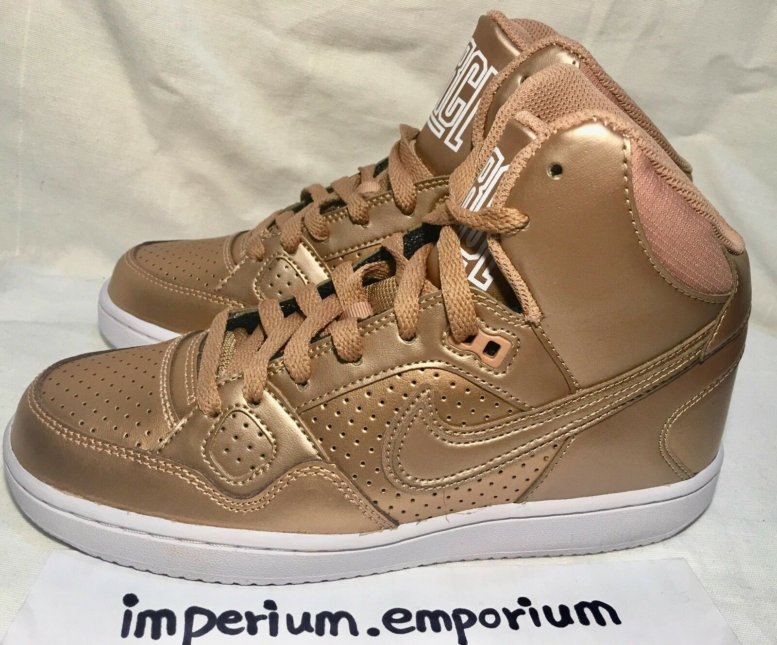 Femme Nike Son Of Obliger Mid Trainers Sneakers chaussures Bronze/Gold