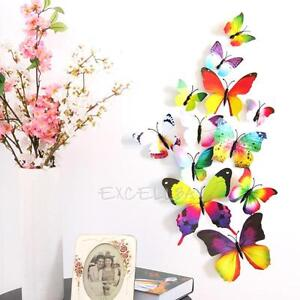 12pc-3D-Colorful-Butterfly-Wall-Sticker-Magnet-Art-Decal-PVC-Home-Room-DIY-Decor