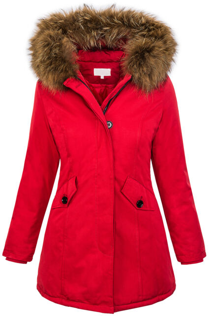 bc932038d Womens Designer Outdoor Winter Jacket Parka Genuine Fur Hood D204 34 36 38  40 42