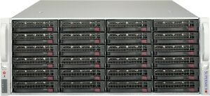 Supermicro-4U-24-bay-Raid-Storage-Server-Xeon-12-Core-2-1ghz-16GB-24x-Trays-RAIL
