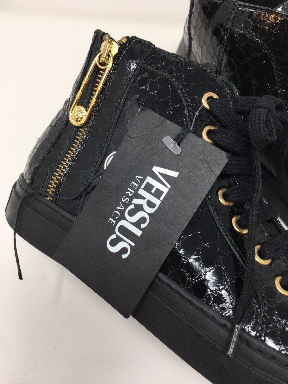Versus Versace Serpiente Patrón Negro Cuero High Unido Top de Superdry Reino Unido High 4, Reino Unido 6 529ed0