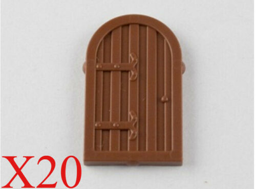 Lego Reddish Brown Window 1 x 2 x 2 2//3 Shutter with Rounded Top Parts Lot of 20
