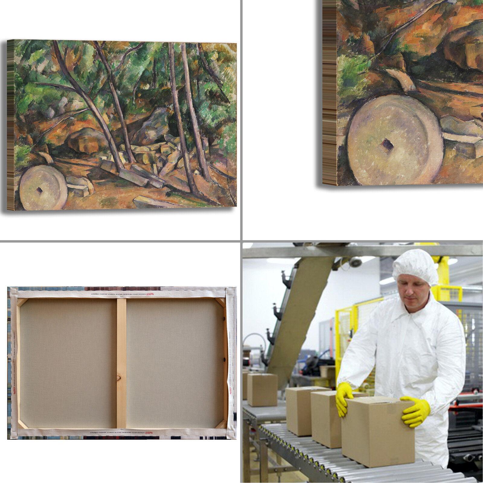 Cezanne macina nel parco parco parco design quadro stampa tela dipinto telaio arRouge o casa   Stocker  3075f9
